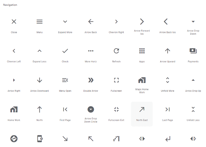 material Icons イラスト一例①